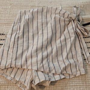 Tobi Striped Wrap Skort